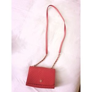 Tory Burch Marion Embossed Shrunken Shoulder Bag
